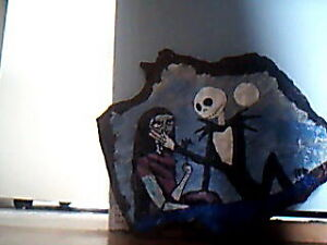 Jack Skellington & Sally/Slate Rock piece