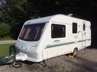Elddis Spey (Avante 524) 2003, 4 berth caravan plus awning and all extras - great value starter van.