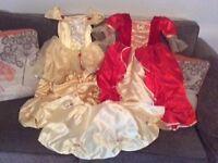 DISNEY PRINCESS BELLE BEAUTIFUL FANCY DRESS X 2 & CAPE