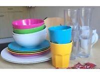 Assortment of random plates bowls and mugs *NO CHIPS/MARKS*