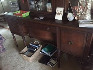 Antique buffet and hutch Peterborough Peterborough Area image 1