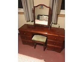 Dressing Table and Stool Pine