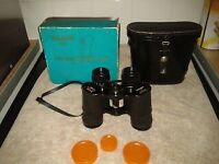 Binoculars Sunagor 8-24x25 pocket mini zoom field 2.3 at 24 power, case, lens caps and neck strap