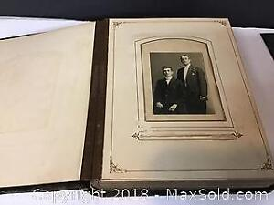 Antique family photo Album Full includes tin types