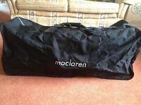 Maclaren double buggy bag