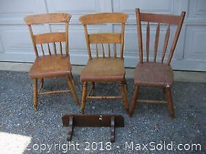 Antique Chairs and Shelf A