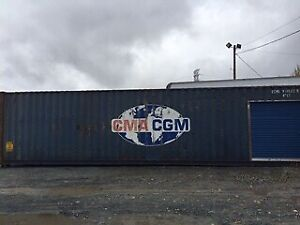 40'HC USED SHIPPING CONTAINER / SEACAN WITH SIDE ROLL UP DOOR