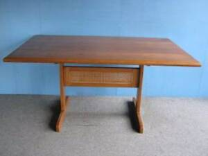 DINING TABLE 8 SEAT AMERICAN OAK TIMBER RETRO PARKER DANISH EAMES Geebung Brisbane North East Preview