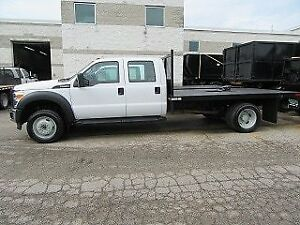 2015 Ford F-550 CREW CAB 4X4 GAS WITH 12 FOOT FLATDECK