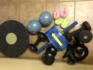 Lot of exercise items