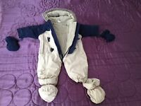 Baby hooded All in one Pramsuit/Snowsuit