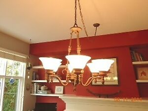 Matching Chandelier & Pendants