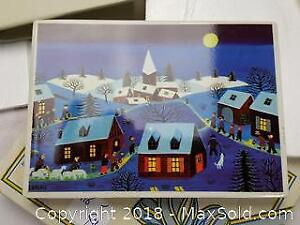 A Vilbo card for Christmas from Kure Japan to Kingston. Made in West Germany