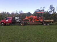 MAN TRUCK AND BACKHOE FOR HIRE