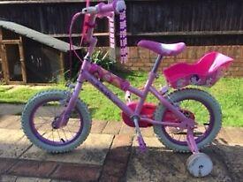 Pink Disney Princess Bike with stabilisers
