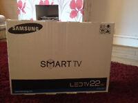 "Samsung Smart TV UE22H5600AK 22"" 1080p HD LED LCD Internet TV - Never used"