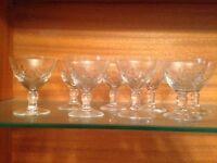 Small Crystal Stem Glasses
