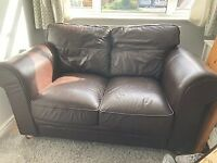 FREE Sofa - two seater brown leather