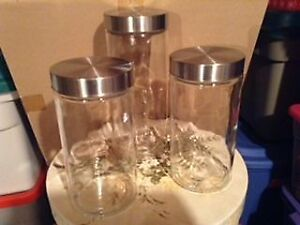 3 piece glass decanters.