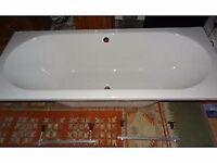 Double ended acrylic bath 1700 x 750