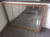 Beveled edge Mirror, measuring 43inch X 33inch Gold/Bronze frame £35