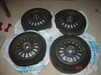 1982 Audi 4000/50 4 Rims with 2 tires
