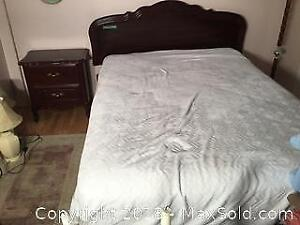 Double Mattress, Box Spring, Headboard Night Table
