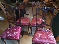 Set of 4 antique dining chairs - dating from approx 1920's