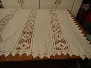 Antique Linen Bedspread (white)