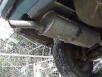 BMW 316i 320 estate TOURING E30 Lagunengrun-metallic REAR exhaust breaking for parts