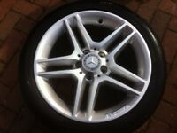 AMG 17 INCH ALLOY WHEELS AND TYRES