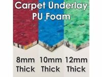 10 mm CARPET UNDERLAY RRP £79 / only £ 40 PER ROLL ( NEW STOCK JUST ARRIVED )