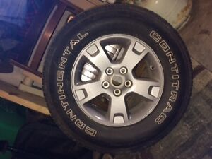 1 tire, M&S, with sports rim for Ford Escape Gatineau Ottawa / Gatineau Area image 1