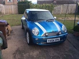 2004 MINI COOPER 1.6 ELECTRIC BLUE MOT TAXED