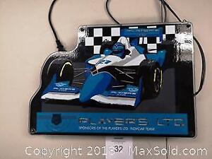 Players Indy Car Backlit Promotional Sign - A