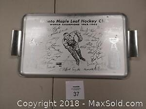 1960s Toronto Maple Leafs Stanley Cup Champions Serving Tray - B