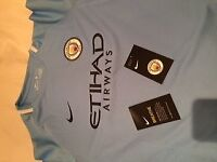 Official Nike Manchester City Football Top Large Boys (12-13yrs)