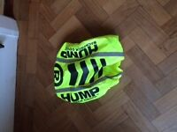 HUMP rucksack cover, small, good for cycling. Keep your stuff dry in the Summer rain!