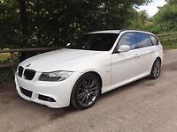 2011 11 BMW 320d M SPORT PLUS TOURING 2.0TD 6SPEED 184bhp 110K FSH WHITE
