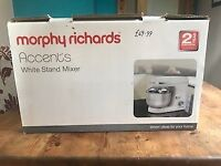 Morphy Richards Acents white stand mixer