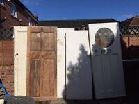 5 1930s Solid wood doors