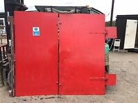 two bespoke 5mm thick , 7ft x 4ft steel doors with hinges etc.Offers invited of £200 or more.