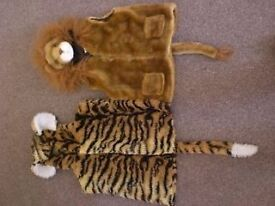 Children's / Kid's Lion and Tiger Dressing Up Outfits