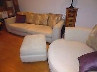 4 seater sofa and cuddle tub chair