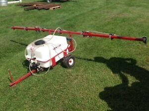 Pull type yard sprayer