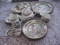'INDIAN TREE' TEA/DINNER SET IN VERY GOOD CONDITION - 24 PIECES