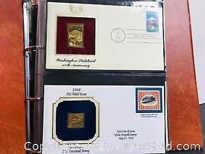 Vintage 22kt Gold Stamps First Day Covers Album