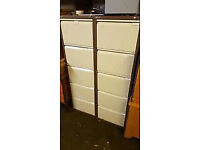 5 Drawer Bisley Filing Cabinet With Key