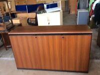 Rosewood 3 door storage cupboard