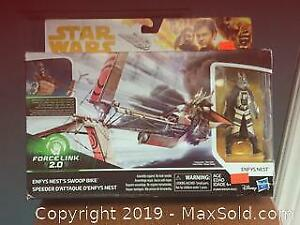 Star Wars enfy swoop bike with figure NEW sealed.